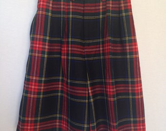 1980s plaid high waisted pleat front shorts by Charter Club size 8