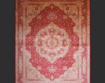 QUM Persian silk palace rug  12.9 x 9.7 ft / 392 x 295 cm carpet