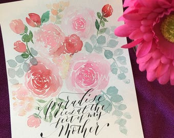 Mothers Day watercolor paintings