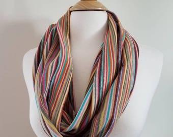 Infinity Scarf - Babylonia - BBslen Pineapple - Pineapple - Wrap Scrap - Handmade - Striped - Multicolored
