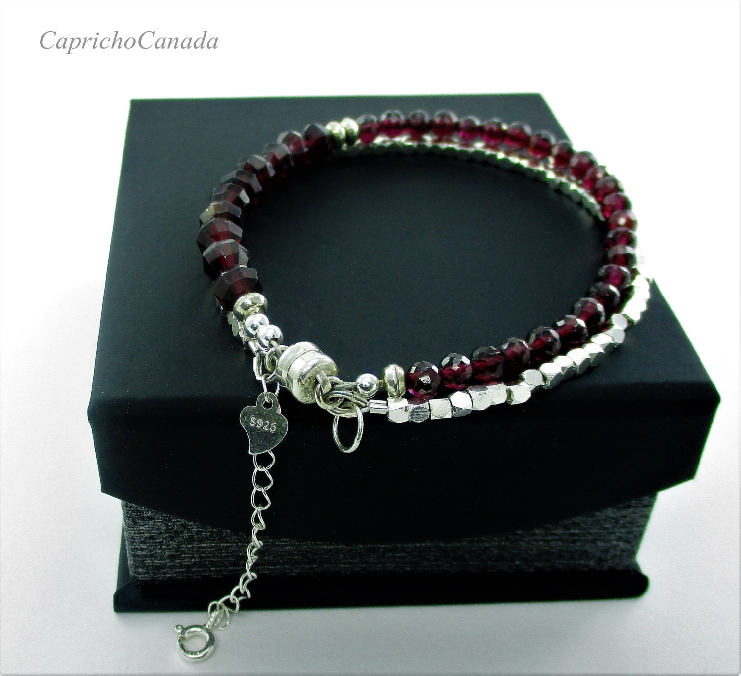jewelry women in designer layer s bracelet lyst mini gemstone cohen garnet m red templar mcohen
