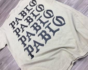 I Feel Like Pablo shirt- the life of pablo-yeezy-kanye west-concert-saint pablo tour-pablo pablo pablo-T-shirt (Black-Print)