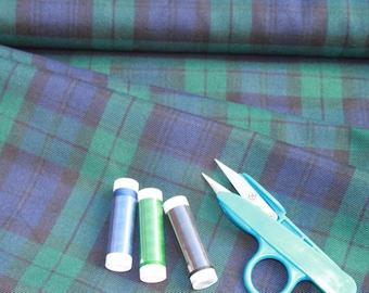 Black Watch Tartan Fabric