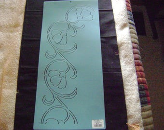 Sashiko Japanese Embroidery Stencil 4.5 in. Poppy Border/Quilting