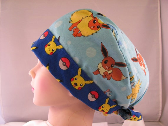 Women's Pixie Scrub Hat Pokemon Blue