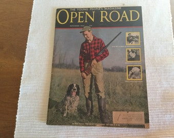 Open Road Magazine November 1952