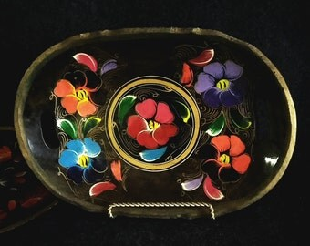Serving Trays  #2  Beautifully Painted   PreOwned and Well cared for........