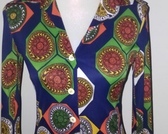"""Vintage dress ,70""""s, print , made in Italy"""