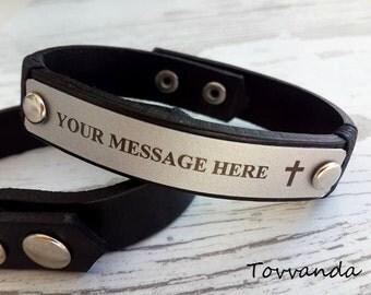 Valentined Day Gift , Handmade Bracelet , Personalized  Bracelet  leather bracelet, Male Bracelet, Custom  Bracelet, Graduation Gift
