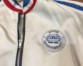 Vintage 1973 NASCAR Medium Racing Jacket Silver Anniversary