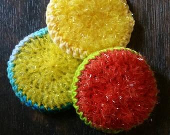 Kitchen dish scrubbies crochet