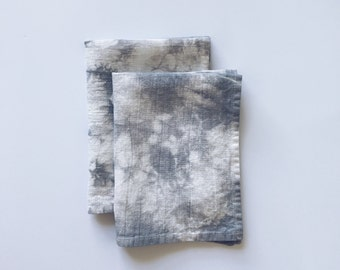 Grey Marble Linen Placemats - Set of 6