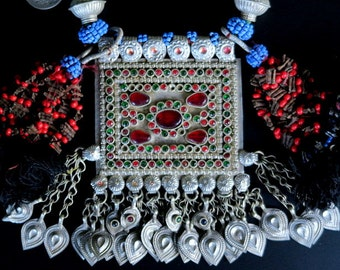 WAZIRI TRIBAL JEWELRY - Vintage Coins and Kuchi Pendant Necklace