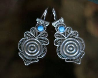 VINTAGE KUCHI EARRINGS - Unique Afghan Kuchi Tribal Jewelry Earrings