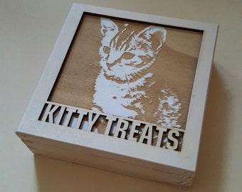bespoke keepsake box with photo engraved on the cover
