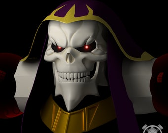 Ainz Ooal Gown head for 3D-printing