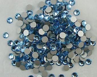 48 SS16 Swarovski crystal flatbacks 2028 aquamarine 7995