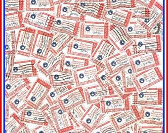 Credo - 100 In God We Trust Vintage Postage Stamps