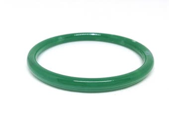 Mesmerizing Green Peking GLASS Vintage Estate Bangle Bracelet