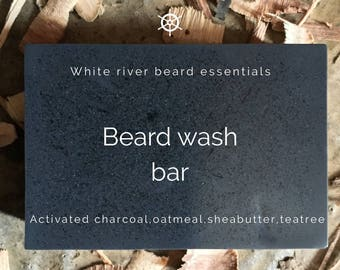 Activated charcoal beard cleanse bar