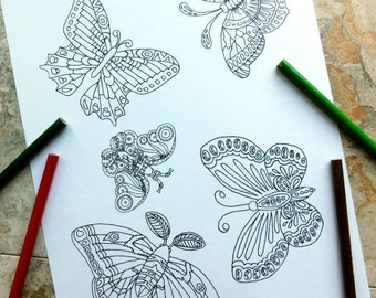 butterfly, coloring pages, butterfly collection, nature, monarch, butterfly coloring pages, nature coloring pages, coloring page printable