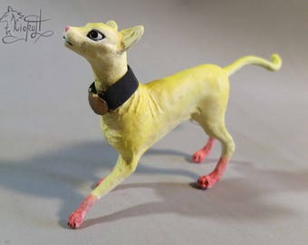 "Sphynx cat ""Saitama"" - handmade figurine fanart dehumanization onepunch-man"