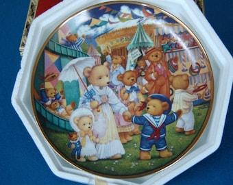 Teddy Bear Fair by Carol Lawson Franklin Mint Collector Plate P2040