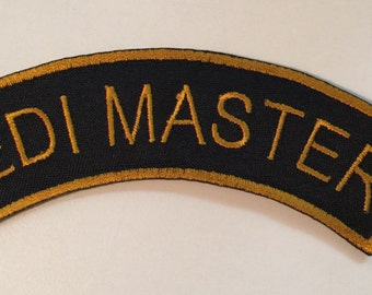 JEDI MASTER Embroidered Patch - Iron or Sew On
