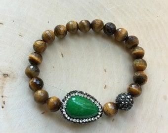 Jade Pave Bracelet