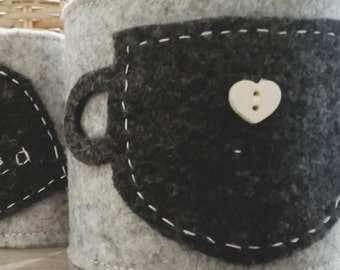 "Cup-warming Warm Hug ""CHOCOLATE"" Felt"