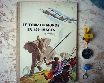 "Book ""around the world in 120 pictures"" 1956 - Chocolat Menier - advertising book"