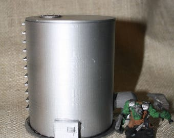 Storage Tank for 28mm Wargaming, 3D printed Warhammer 40K Terrain 3D printed