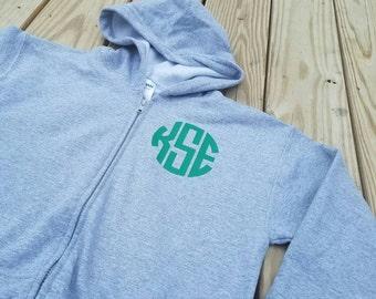 monogrammed youth zipper hoodie monogrammed youth hoodie vinyl monogram youth zipper hoodie hoodie