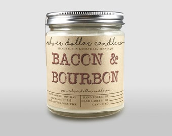 Bacon & Bourbon Candle - Boyfriend Gift, Man Candle, Father's Day Gifts, Birthday Gifts for Dad, Bacon lover, Gifts for him, Dad Gift