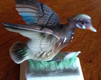 Vintage Napco wood duck figurine C – 7164