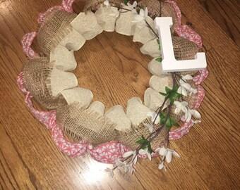 Spring/Summer Burlap Wreath