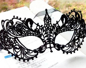 Mask Black Sexy Lace Mask Cutout Eye Mask for Masquerade Party Fancy Dress Costume Valentine's Engagement