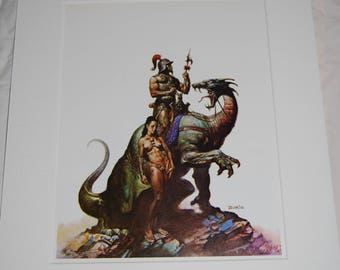 Boris Vallejo Matted Print - Nomads of Gor - 1976