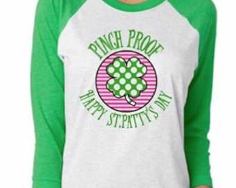 St. Patrick's day shirt, Pink proof shirt, St. Patrick's day raglan t-shirt