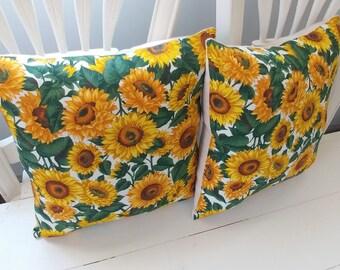Sunflower Pillow Set