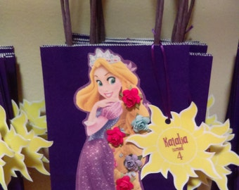 Rapunzel party favor bags