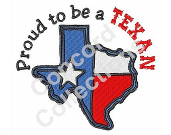 Proud Texan Machine Embroidery Design