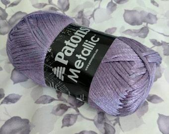 Patons Metallic Yarn in Metallic Purple