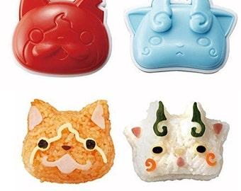 Yokai Watch Rice Ball Maker Tool Set - Oniguiri Bento Moud -