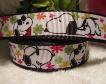 "3 yards 7/8"" Snoopy Grosgrain Ribbon"