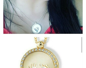 Footprints Necklace Cremation Jewelry  Remembrance Necklace Swarovski Crystal Footprint Necklace with Your Child's Actual Gold Footprint
