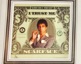 Scarface Wall Art, Scarface Movie Wall Hanging, Collectible Wall Hanging, Films, Scarface Movie