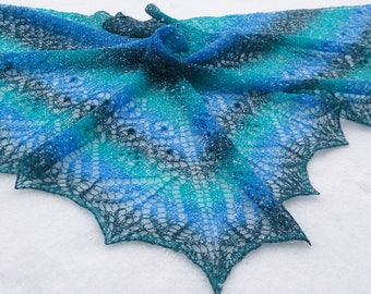 Hand-knit Lace Shawl Scarf Wrap Poncho Wedding accessories Women's gifts