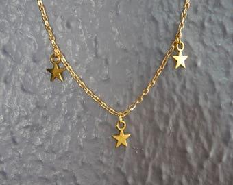 Three Star Charm Necklace