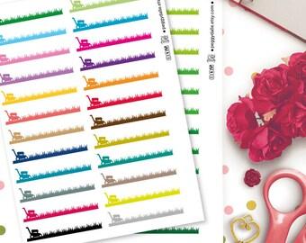 Lawn Mower Planner Stickers |  Erin Condren ECLP Life Planner | Kikki K | Filofax | Gardening | Chores